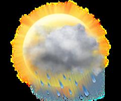 Parţial însorit cu precipitaţii