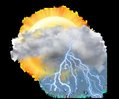 Predominant  înnourat cu furtună