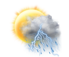 Parţial însorit cu furtună