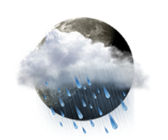 Parţial   înnourat cu precipitaţii